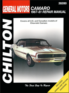 Chevy Camaro Berlinetta, RS, Z28 Repair Manual 1967-1981