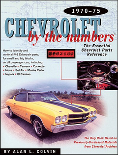 Chevrolet By The Numbers 1970-1975; chevrolet vin numbers