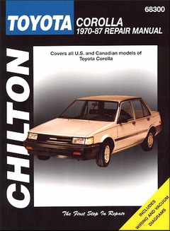 Toyota Corolla Repair Manual 1970-1987