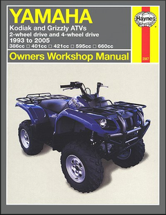 Yamaha Kodiak, Grizzly ATV Repair Manual 1993-2005