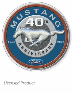 """Mustang 40th Anniversary 1964-2004"" Tin Sign"