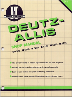 Deutz-Allis Repair Manual 6240, 6250, 6260, 6265, 6275