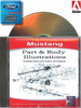 Mustang Part & Body Illustrations Manuals on CD 1965-1973
