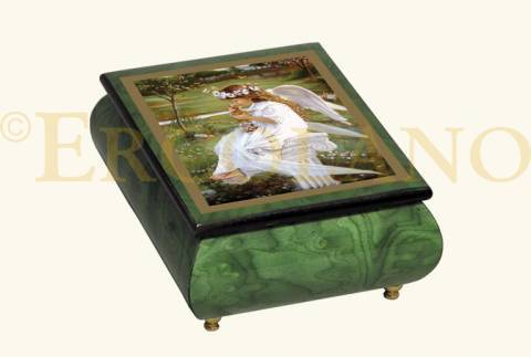 "Extraordinary Musical Jewelry Box From Ercolano called ""Kitten Kisses"" by Sandra Kuck with 18 Note Tune-Perfect Year, The – SWISS"