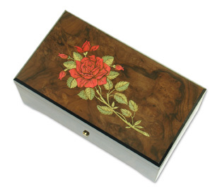 Astonishing REUGE Hand Made Musical Red Rose Italian 36 Note Masterpiece, Get it in 50 & 72 note with 36 Note Tune-Blue Danube  &  Tales From the Vienna Woods
