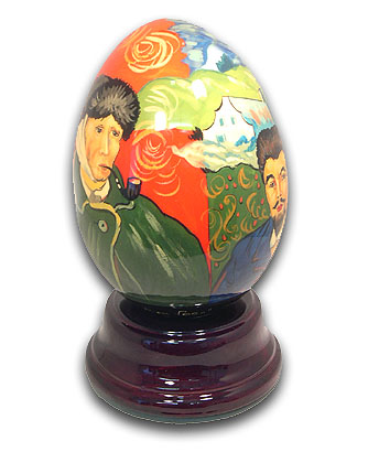 Van Gogh Hand Painted Reuge Musical Egg, Flawless with 18 Note Tune-Magic Flute, The (Glockenspiel)