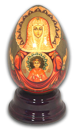 Madonna Hand Painted Reuge Musical Egg, Gorgeous with 18 Note Tune-Only You