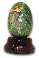 "Reuge ""Giselle"" Handpainted Ballet Egg, Limited Edition with 18 Note Tune-Wedding March (Wagner)"
