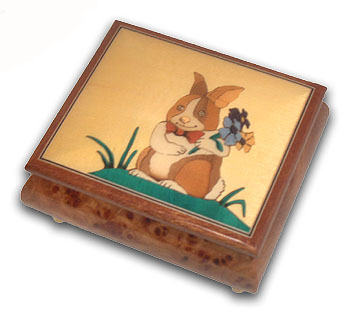 Bunny Boy Astonishing Music Jewelry Box with 18 Note Tune-Love Story (Love Story the Movie)