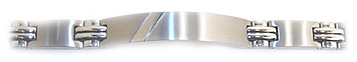 Exclusive Stainless Steel, Modern Men's ID Bracelet