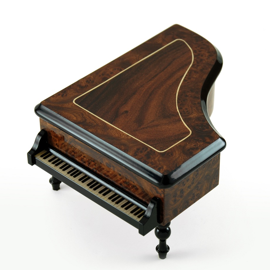 Incredible Classic Style Grand Piano Sorrento Inlaid Music Box with 18 Note Tune-Blue Danube, The (Strauss)