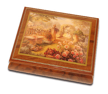 Lisa's Garden Beautiful Art Box from Ercolano with 18 Note Tune-Sleeping Beauty Waltz, The (Once Upon A Dream)