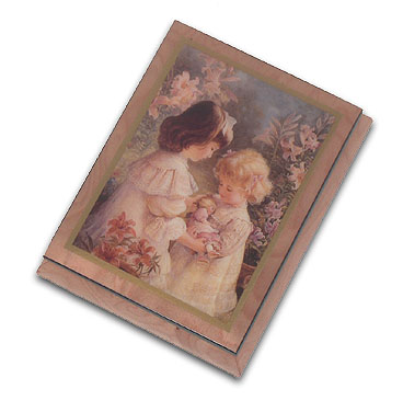 "A Gift of Love"" Adorable Ercolano Music Box by Brenda Burke with 18 Note Tune-You Are So Beautiful To Me"