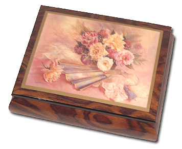 Nostalgia Beautiful Ercolano Box by Brenda Burke with 18 Note Tune-That's What Friends Are For