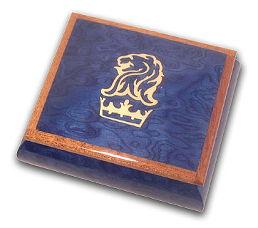 Royal Blue Ritz Carlton Theme Musical Box with 18 Note Tune-Star Spangled Banner