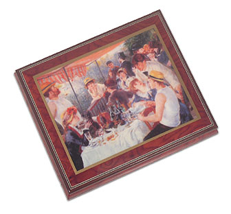 Luncheon of the Boating Party Ercolano Box  by Georges Seurat with 18 Note Tune-I Hope You Dance