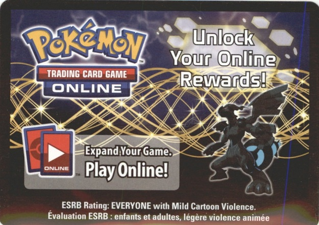 Pokemon ZEKROM EX ONLINE PROMO CARD BW38 CODE - Zekrom EX Promo Card BW38 for your Pokemon Online Account - DELIVERED BY REGULAR MAIL - IN STOCK NOW