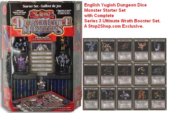 American YuGiOh DungeonDice Monsters Yu-Gi-Oh Starter Set with SERIES 3 ULTIMATE WRATH SET