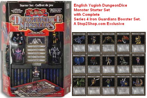 American YuGiOh DungeonDice Monsters Yu-Gi-Oh Starter Set with SERIES 4 IRON GUARDIANS SET