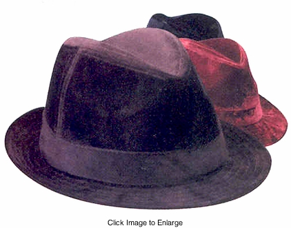 Velour Fedora Hat