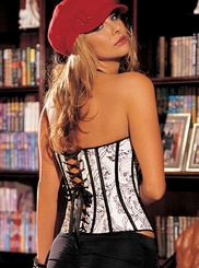 White Skull Corset with Zipper Front