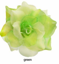 Green Flower Hair Clips