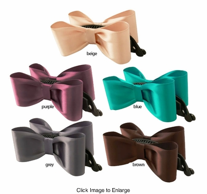 "1.5""  Double Satin Bow Hair Clip"