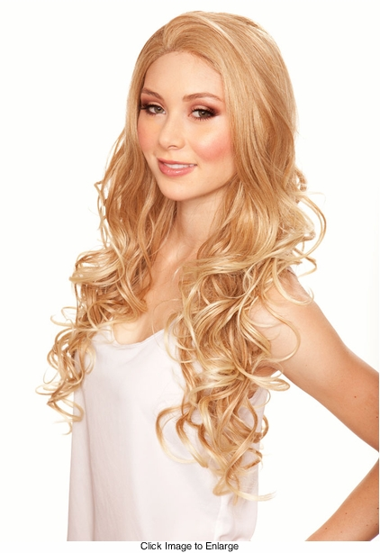 Heat and Styling Friendly Lace Front Wig with Long Loose Glamour Curls and Great Volume