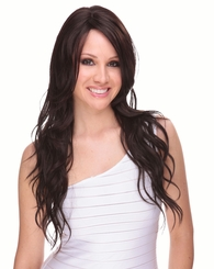 Heat and Styling Friendly Long Hair Wig in Chocolate