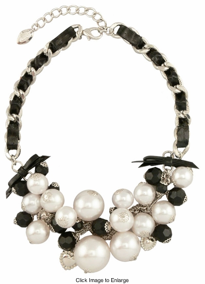 Pearl and Chain Choker Necklace