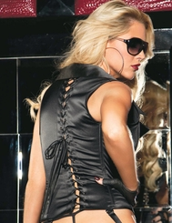 Rock and Roll Rebel Satin Corset with Jacket Styling