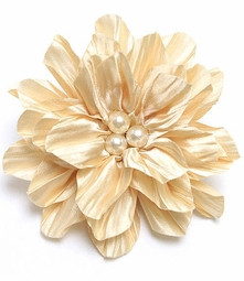 "Bridesmaid 4.15"" Satin and Pearl Flower Hair Clip (available in 4 colors)"