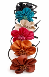 Faux Leather Flower Headband (available in 6 colors)