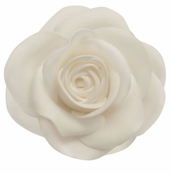 "Deluxe 4"" Bridal Rose Flower Hair Clip"