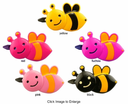 "1.5"" Bumble Bee Hair Clip"