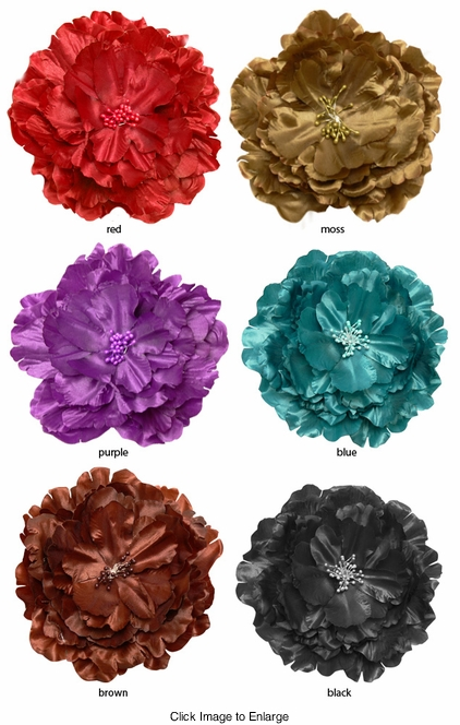 "Supersize 6"" Wide Flower Hair Clip/Pin"