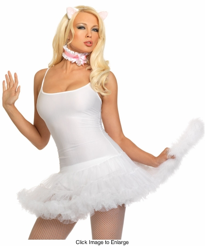 Anime Kitty Costume Kit with Ears, Collar and Tail