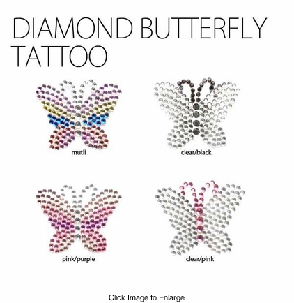 Diamond Butterfly Tattoo