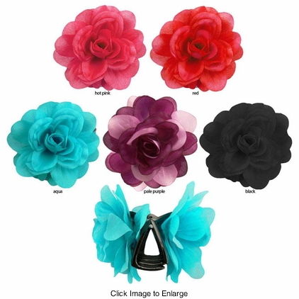 "3.5"" Silky Flower Jaw Hair Clip"