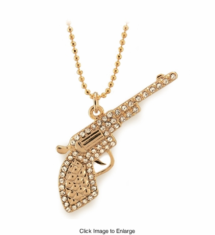 Jeweled Gun Necklace