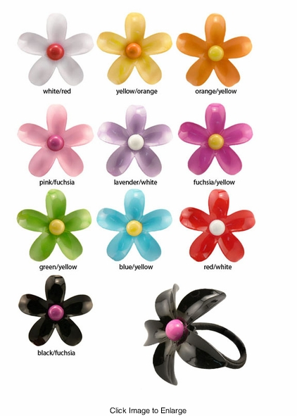 "2.5"" Flower Hair Elastic"