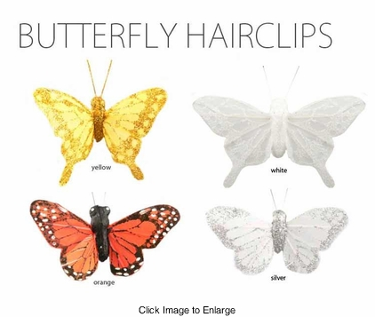 Delicate Feather Butterfly Hair Clip