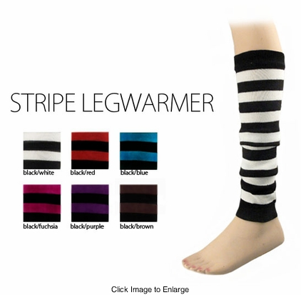 Knit Stripe Leg Warmers
