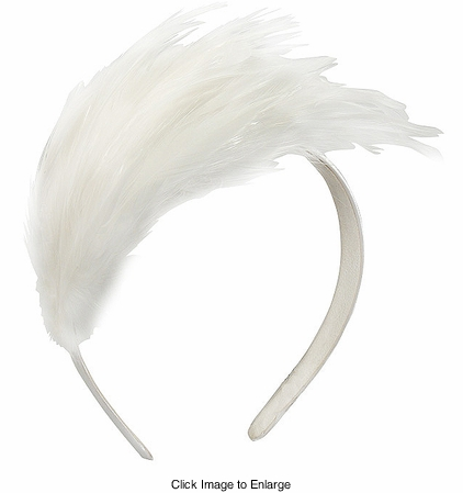 White Wedding Feather Headband for $35.00