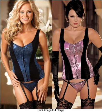 **SALE Going Out or Staying In Corset with Spandex Panels
