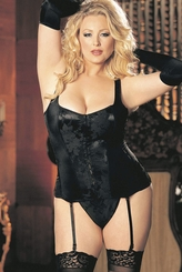 Going Out or Staying In Corset with Spandex Panels (available in more colors and plus sizes, up to size 50)