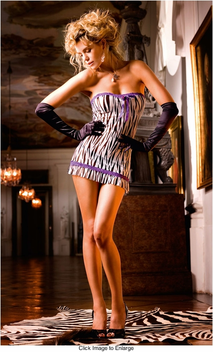 Zebra Tube Mini Dress
