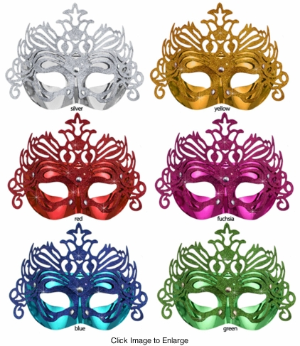 Costumes-Glitter and Metallic Mask