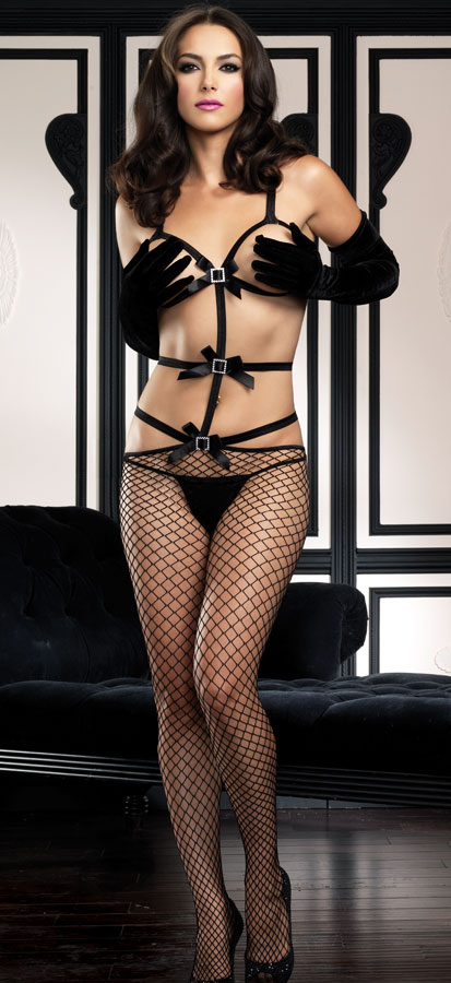 Strappy Peek-a-Boo Bodystocking