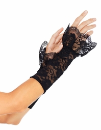 Black Stretch Lace Arm Warmers